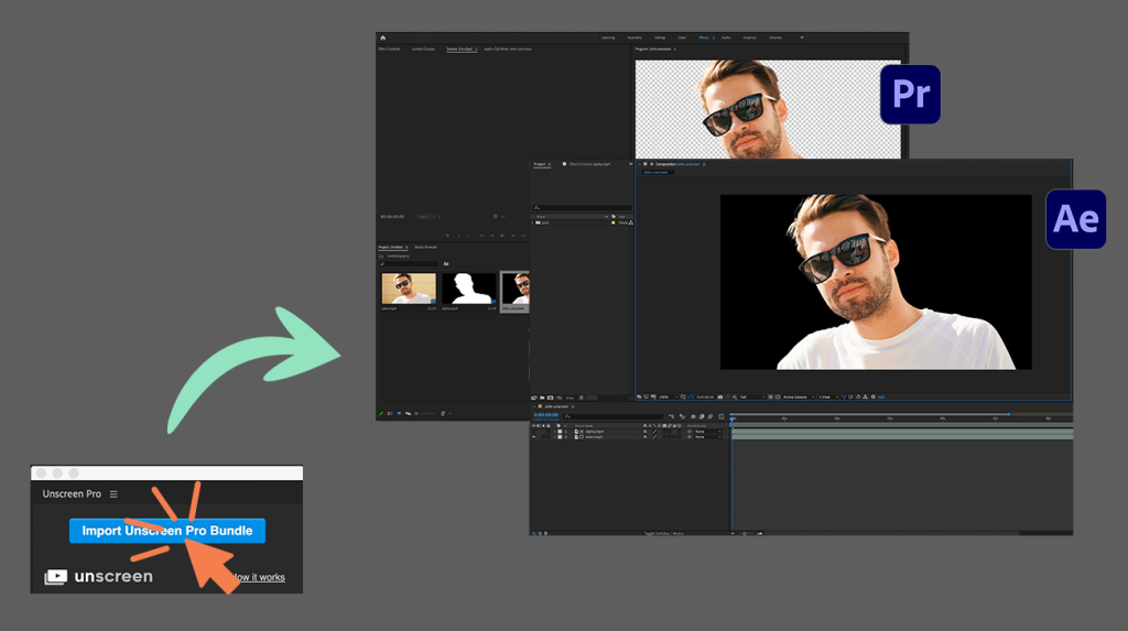 unscreen pro plugin for premiere pro and after effects