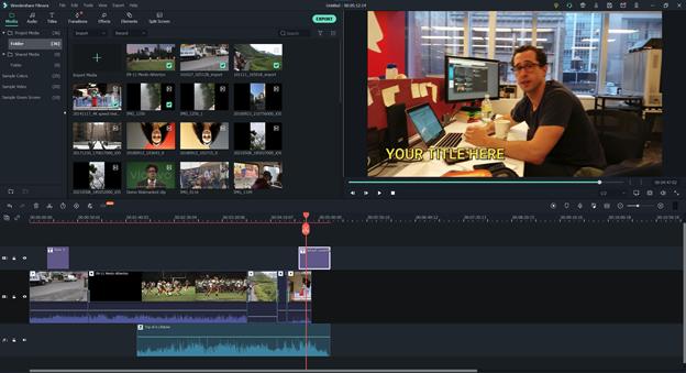 editing in wondershare filmora