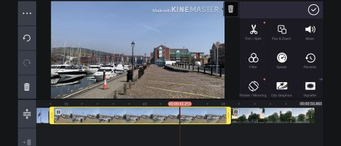 editing on mobile in kinemaster