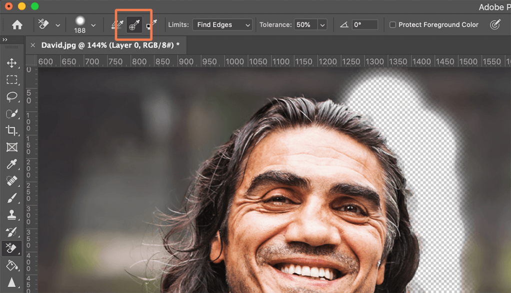 How to remove background in Photoshop - continuous sampling 2