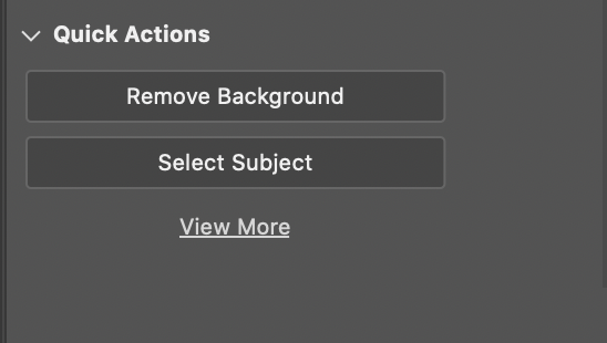 Remove background in Photoshop - Quick Actions