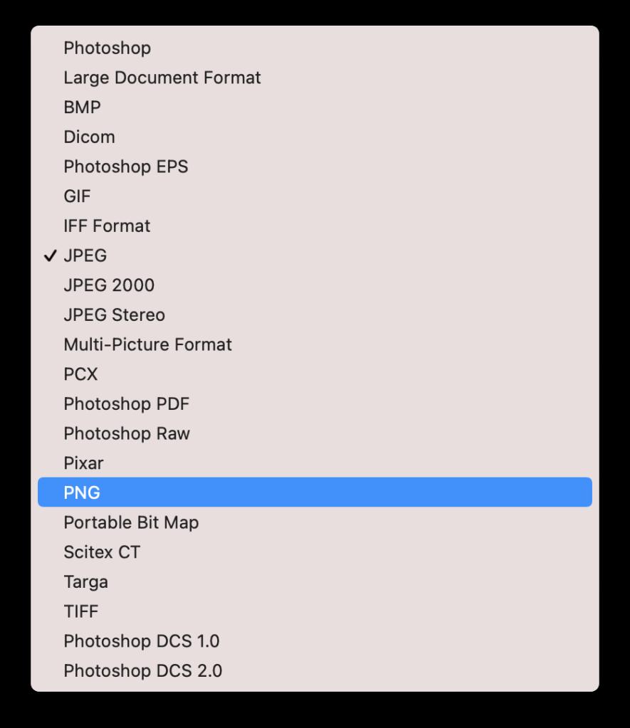 saving image file in PNG format
